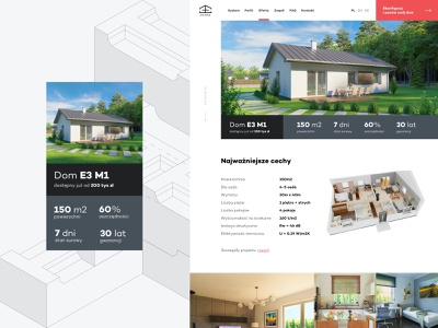 System 3E - Product page web design layout website grid clean