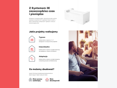 System 3E house website layout grid clean web design web