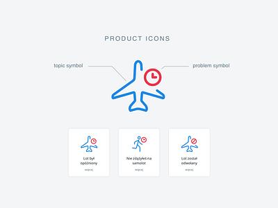 Givt - product icon illustration claims module symbol plane minimal clean web design website icon