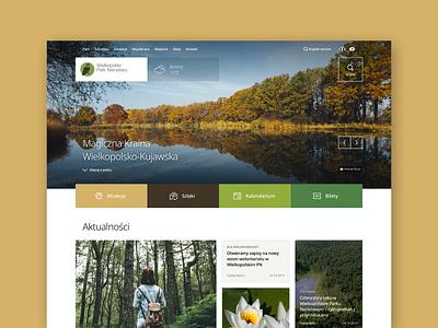 Polish National Parks - new website concept national park poland parks grid layout clean web website web design