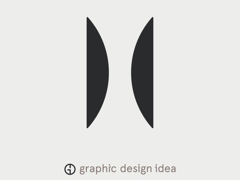 "letter ""H"" letter font typography logo branding design illustration vector"