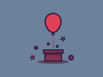 Box & Baloon illustration