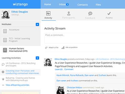 Activity Stream & Dashboard stream activity