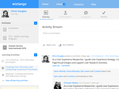 Activity Stream & Dashboard