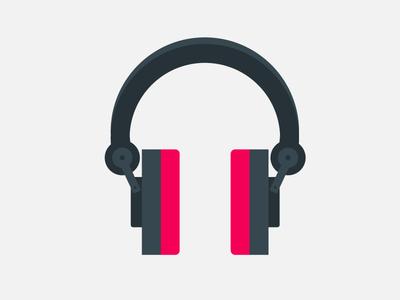 Headphone illustration headpone