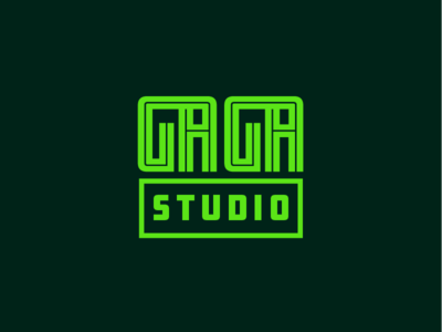 GAGA Studio logo typeface