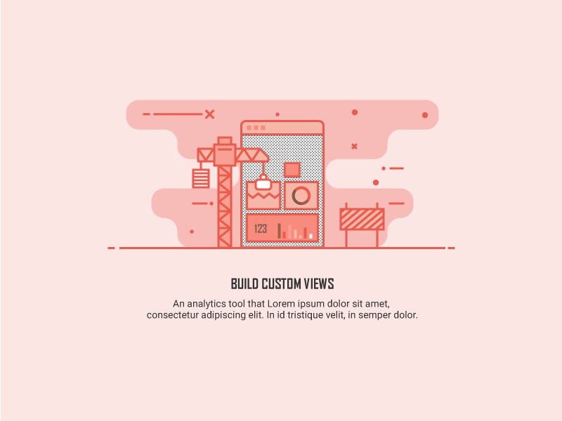 Feature Illustration dashboard illustration