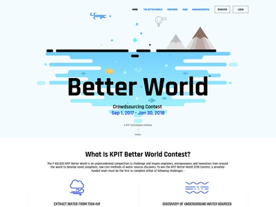 Better World Contest water homepage