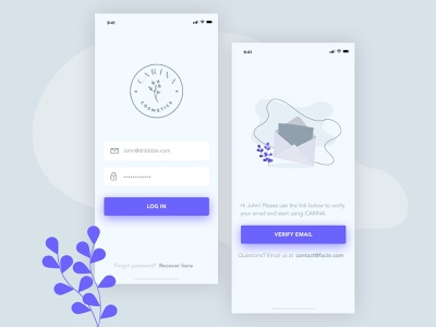 Log in to your store minimal vector typography app ux ui illustration design
