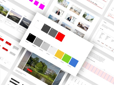 Real Estate - Web Style Guide ecommerce free images button design color shapes color palette ux uxdesign ui guidebook webdesign web digital branding digital brand book brand identity styleguide branding hamburg uiux