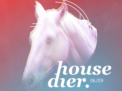 Housedier identity visual flyer festival party house