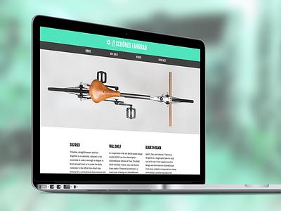 Schönes Fahrrad bicycle visual responsive css html webdesign