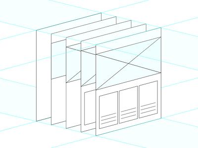 Wireframes iterative grid skeleton wireframes