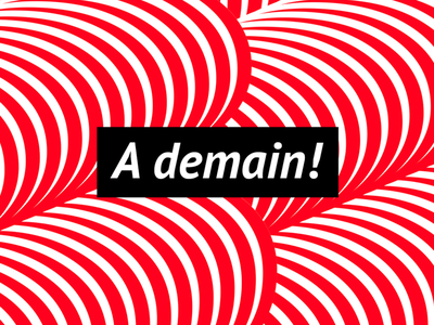 A Demain france typography graphic