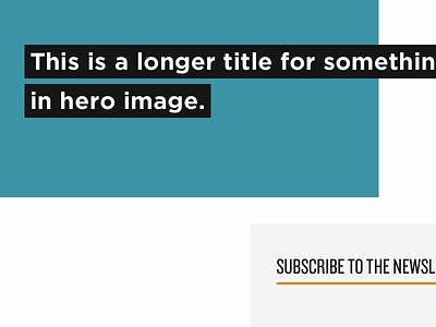 Hero image, sidebar gotham knockout