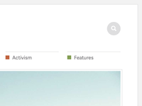Search, nav, & featured image