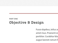 Objective & Design