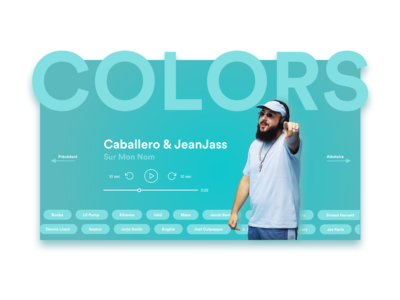 Colors Landing Page - Audio Player