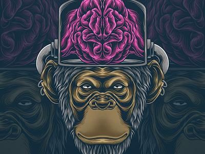 king kong funart king kong monkey graphic art illustration illustrator drawing design artwork art