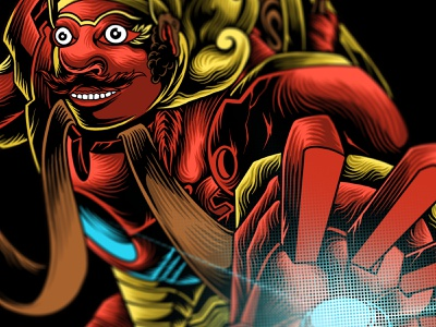 warog man masked funart ironman hero culture graphic art illustration illustrator drawing design artwork