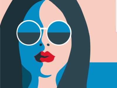 Summer coming soon... illustration lips sea sky sunglasses summer icon vector girl