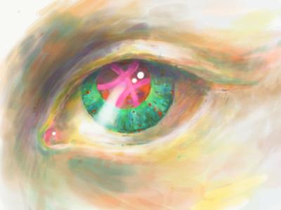 Big brother is watching you... blaze pollard ipad pro adobe sketch human dribble invite eye