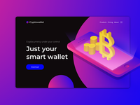 Cryptowallet promo page