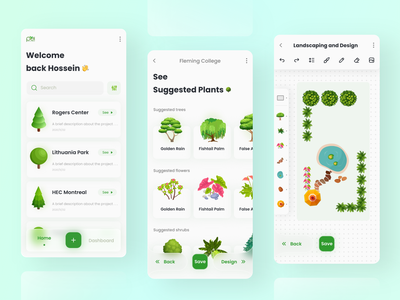 Design and Landscaping App 3d illustration mobile app plants mobile landscape illustration flower illustration minimal creative design environmental design environment design userinterface uxdesign uix ux uidesign green editor design landscaping ui