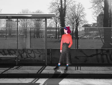 Waiting.... :) photography digitalart minimalism clean digitalillustration design digital art illustration