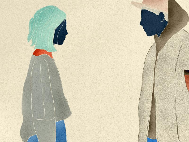 Find someone who is going to challenge you. landing website digitalart ui minimalism clean digitalillustration design digital art illustration