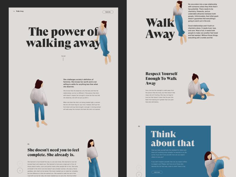 The power of walking away. website web webdesign ui minimalism clean digitalillustration design digital art illustration