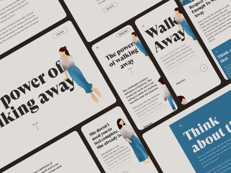 You have to walk away. website typography web webdesign digitalart ui minimalism clean digitalillustration design digital art illustration