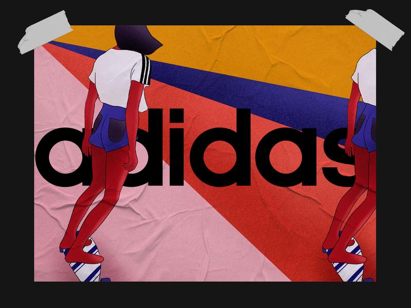 adidas adidas originals adidas branding pattern digitalart minimalism clean digitalillustration design digital art illustration