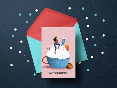 Christmas Card christmas postcard winter christmas card graphicdesign minimalism clean digitalillustration design digital art illustration