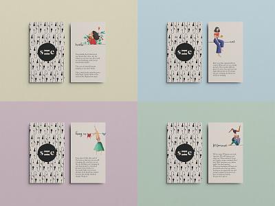 she. cards landing graphicdesign branding pattern digitalart minimalism clean digitalillustration design illustration