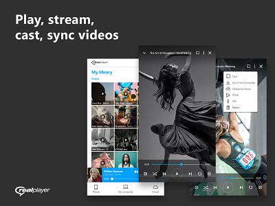 realplayer app player music video appdesign application mobileapp mobile ux ui minimalism clean digital art design