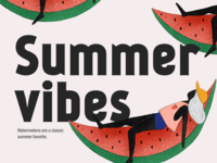 Watermelons are a classic summer favorite.