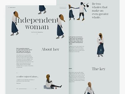 That makes her even more beautiful. website landing ux typography web minimalism digitalart ui pattern clean webdesign design digitalillustration digital art illustration