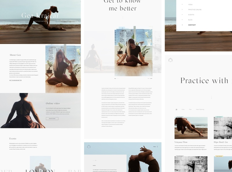 Yoga. web ux website design website webdesign ui minimalism clean design digital art