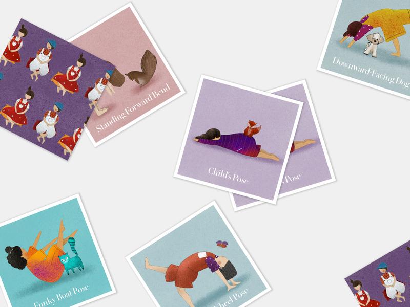 Memory Yoga. branding digitalart minimalism clean digitalillustration digital art design illustration