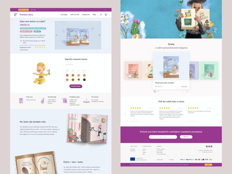 Tvornica snova product detail page product detail ux ui minimalism clean website design webdesign website