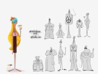 Hippie character design