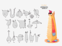 Chicken character design
