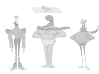 Males character sketches