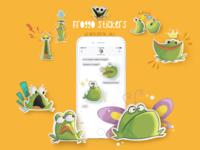 Froggo stickers