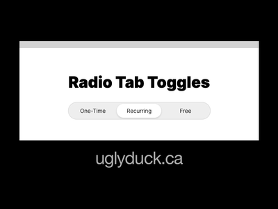 Animated Radio Tab Toggles demo input radio css animation html