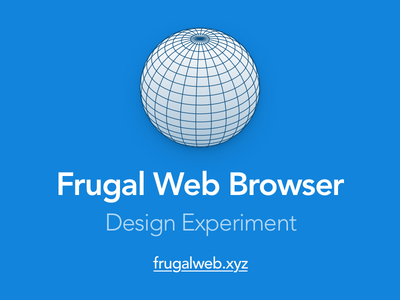 Frugal Web Browser performance ui browser web html5 css3 html css