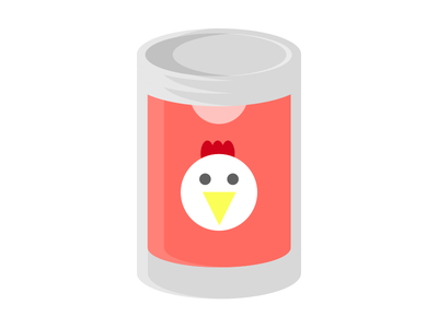 Chicken Noodle Soup illustration metal stew label canned food minimal can noodle soup chicken