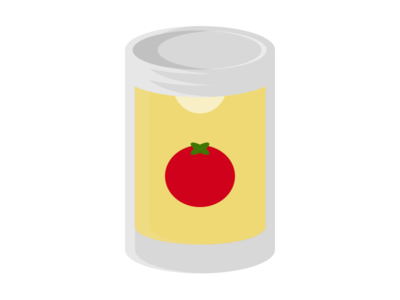 Tomato Soup illustration modern broth vegetable food minimal canned can soup tomato