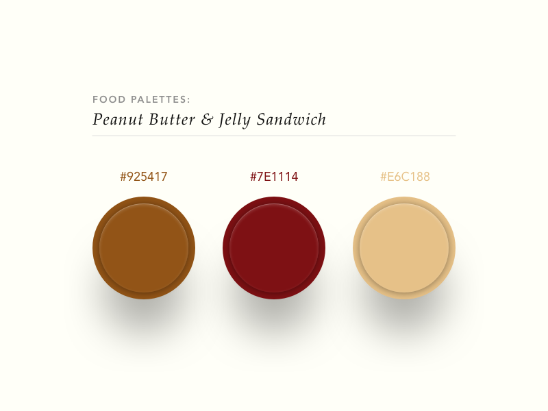 Peanut Butter & Jelly Color Palette by Bradley Taunt on Dribbble